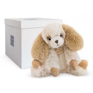 Histoire d'ours - HO2721 - Softy - chien ecru petit modèle - taille 25 cm - boîte cadeau (334284)