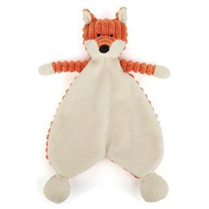 Jellycat - SRS4FX - Doudou plat renard Cordy Roy Baby Soother - L = 38 cm x l = 19 cm x H =23 cm (337274)