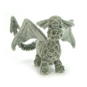 Jellycat - D2D - Peluche dragon Drake - L = 27 cm x l = 31 cm x H =38 cm (373828)