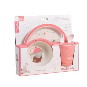 Moulin Roty - 665232 - Set vaisselle rose Les jolis trop beaux (377540)