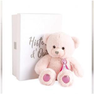 Histoire d'ours - HO2806 - Peluche ours charms - rose sorbet - taille 24 cm - boîte cadeau (385804)
