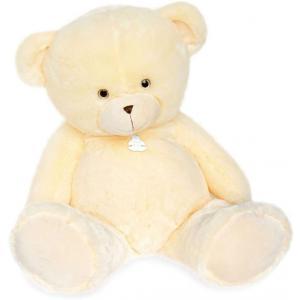 Histoire d'ours - HO2895 - Peluche ours bellydou -  crème - taille 90 cm (385834)