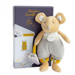 Doudou et compagnie - DC3509 - La petite souris va passer - Bulu en pyjama (beige) - 19 cm (399720)