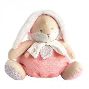 Doudou et compagnie - DC3495 - Lapin de sucre rose - range pyjama  - taille 38 cm (399740)