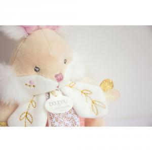 Doudou et compagnie - DC3492 - Lapin de sucre rose - boîte à musique - 20 cm (399742)