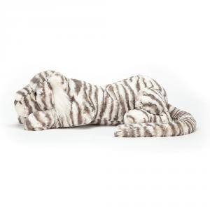 Jellycat - SAC1T - Peluche tigre de neige Sacha - L = 14 cm x l = 46 cm x H =12 cm (399970)