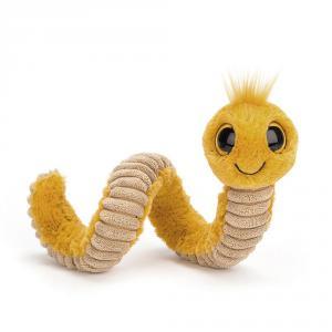 Jellycat - WW3Y - Peluche ver Wiggly jaune - L = 8 cm x l = 7 cm x H =16 cm (400062)