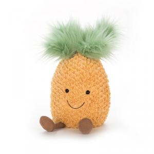 Jellycat - A1P - Peluche ananas Amuseable - Hug - L = 25 cm x l = 17 cm x H =47 cm (400322)