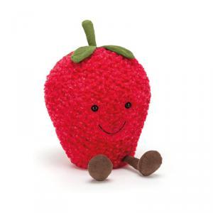 Jellycat - A2S - Peluche fraise Amuseable - L = 12 cm x l = 16 cm x H =27 cm (400334)