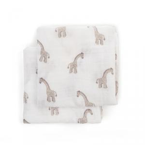 Jellycat - POM2JG - Paire de langes en mousseline girafe Joey - L = 16 cm x l = 70 cm x H =70 cm (400526)