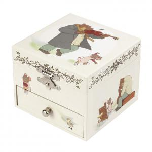 Trousselier - S20016 - Boite à Musique Cube Ernest et Celestine© (403434)