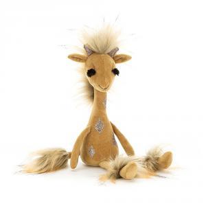 Jellycat - SWE2GG - Peluche girafe Swellegant Gina - L = 6 cm x l = 7 cm x H =35 cm (413040)