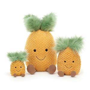 Jellycat - A6P - Peluche ananas Amuseable - L = 8 cm x l = 10 cm x H =16 cm (413146)