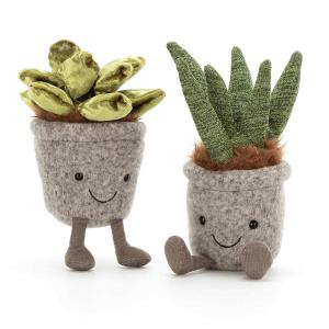 Jellycat - SS6J - Peluche plante jade Silly Succulent - L = 5 cm x l = 6 cm x H =16 cm (413154)