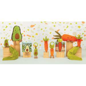 Jellycat - VV6C - Peluche carotte Vivacious Vegetable Vegetable - L = 5 cm x l = 4 cm x H =17 cm (413158)