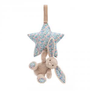 Jellycat - BAMS4BLB - Peluche musicale Blossom étoile avec lapin bleu - L = 5 cm x l = 18 cm x H =28 cm (413354)