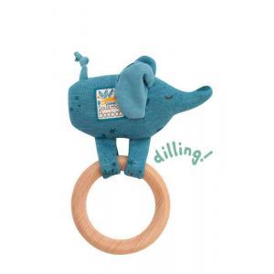 Moulin Roty - 669007 - Anneau-hochet bois éléphant Sous mon baobab (414272)