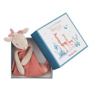 Moulin Roty - 669017 - Doudou attache-tétine girafe Sous mon baobab (414288)