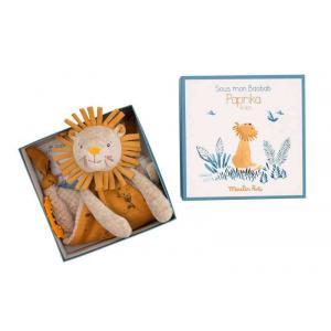 Moulin Roty - 669015 - Doudou attache-tétine lion Sous mon baobab (414292)
