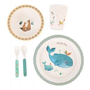Moulin Roty - 714231 - Set vaisselle bambou Le Voyage d'Olga (414354)