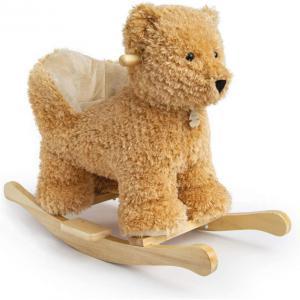 Histoire d'ours - HO2956 - Bascule ourson - hauteur d'assise : 30 cm - longueur : 65 cm - largeur : 27 cm - hauteur : 50 cm (416096)