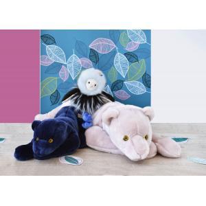 Histoire d'ours - HO2959 - Peluches Panthère bleu nuit 40 cm - collection Jungle chic (416184)