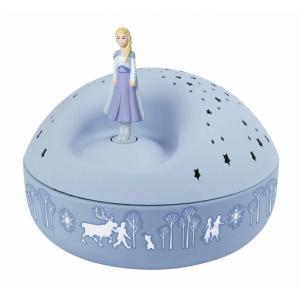 Trousselier - 5004 - Veilleuse - Projecteur d'Etoiles Musical Elsa - La Reine des Neiges 2© - 12 cm - Piles Inclues (418624)