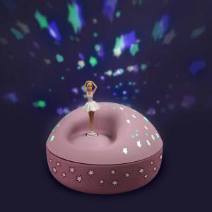 Trousselier - 5111 - Veilleuse - Projecteur d'Etoiles Musical Ballerine 12 Cm  Rose Poudré- Piles Inclues (418676)