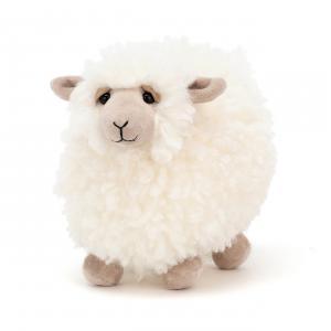 Jellycat - ROL6S - Peluche mouton Rolbie - L = 20 cm x l = 13 cm x H =15 cm (420312)