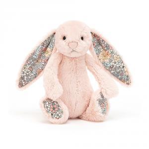 Jellycat - BL6BLU - Peluche lapin Blossom Blush - Smal - L = 8 cm x l = 9 cm x H =18 cm (420398)