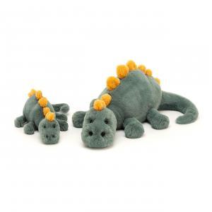 Jellycat - DEN2DD - Peluche dinosaure Douglas - L = 14 cm x l = 38 cm x H =15 cm (420464)