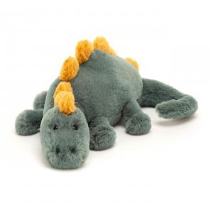 Jellycat - DEN4DD - Peluche dinosaure Douglas - Littl - L = 8 cm x l = 25 cm x H =8 cm (420466)