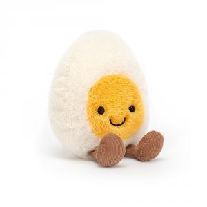 Jellycat - A6BE - Peluche œuf au plat Amuseable - L = 4 cm x l = 8 cm x H =14 cm (420534)