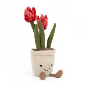 Jellycat - A2TU - Peluche tulipe plante Amuseable - L = 7 cm x l = 7 cm x H =23 cm (420558)