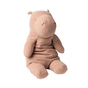 Maileg - 16-0901-00 - Peluche Safari friends, Grand Hippo - rose - 54 cm (421676)