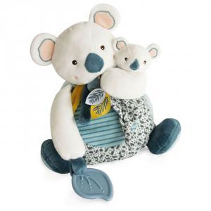 Doudou et compagnie - DC3669 - Yoca le koala - pantin koala gm avec bébé & anneau de dentition - taille 25 cm (427994)