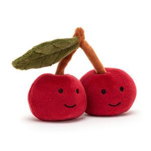Jellycat - FABF6C - Peluche cerise Fabulous Fruit - l = 10 cm x H =9 cm (452438)