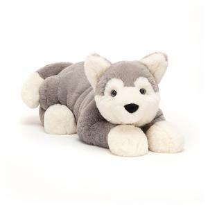 Jellycat - HUD1H - Peluche chien Husky Hudson - l = 46 cm x H =14 cm (452582)
