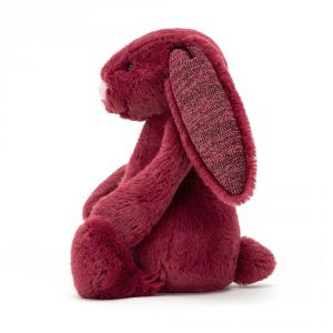 Jellycat - BASS6SCAS - Bashful Sparkly Cassis Bunny Small - l = 9 cm x H =18 cm (452762)