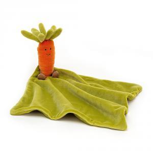 Jellycat - VVS4C - Doudou plat carotte Vivacious Vegetable Soother - L = 15 cm x l = 34 cm x H =34 cm (452818)