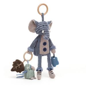 Jellycat - SRA2E - Anneau de jeu avec peluche éléphant Cordy Roy - l = 9 cm x H =28 cm (452846)