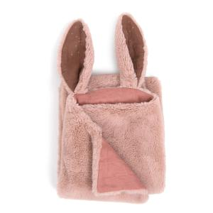 Moulin Roty - 718095 - Plaid lapin rose Rendez-vous chemin du loup (454982)