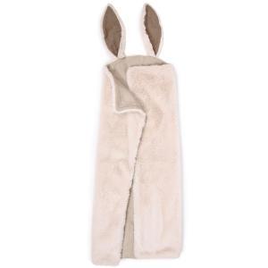 Moulin Roty - 718096 - Plaid lapin blanc Rendez-vous chemin du loup (454984)