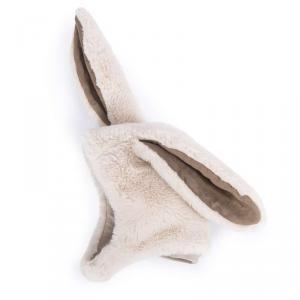 Moulin Roty - 718271 - Bonnet lapin blanc Rendez-vous chemin du loup 6/12 m (454990)