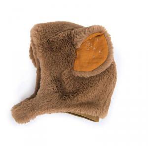 Moulin Roty - 718272 - Bonnet ours brun Rendez-vous chemin du loup 6/12 m (454992)