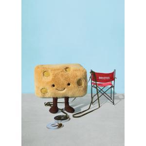 Jellycat - A2SWISS - Peluche fromage emmental Amuseable - l = 16 cm x H = 13 cm (457344)