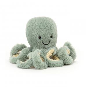 Jellycat - ODYB4OC - Peluche octopus Odyssey Baby - l = 7 x H = 14 cm (457422)
