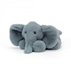 Jellycat - HUG2ELEL - Peluche elephant Huggady - l = 12 x H = 22 cm (457426)