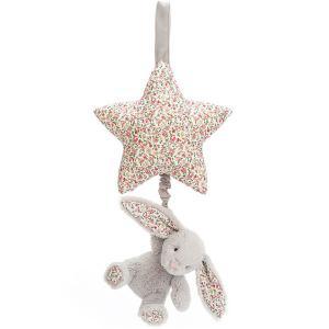 Jellycat - BAMS4BLBN - Blossom Bea Beige Bunny Musical Pull (457554)