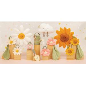 Jellycat - FLEU4DS - Doudou plat fleur pâquerette Fleury - l = 34 x H = 15 cm (457570)
